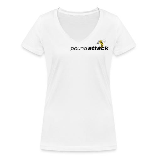 logo poundattack freigestellt mit wespe groß png - Frauen Bio-T-Shirt mit V-Ausschnitt von Stanley & Stella