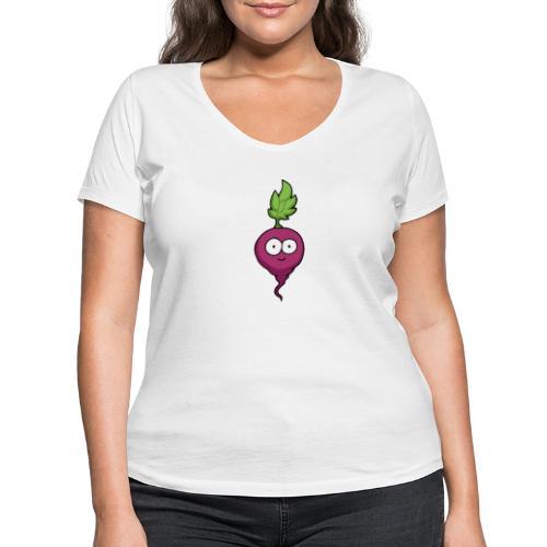 Rudi Radieschen - Frauen Bio-T-Shirt mit V-Ausschnitt von Stanley & Stella