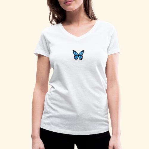 Vlinder T-shirt - Butterfly - Vrouwen bio T-shirt met V-hals van Stanley & Stella