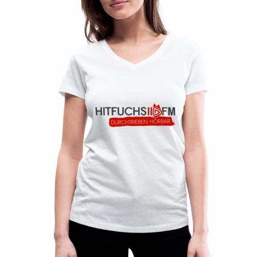 HitFuchs logo + slogan - Women's Organic V-Neck T-Shirt by Stanley & Stella
