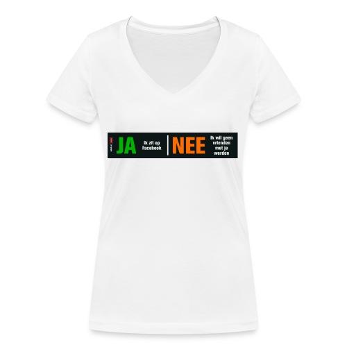 facebookvrienden - Vrouwen bio T-shirt met V-hals van Stanley & Stella