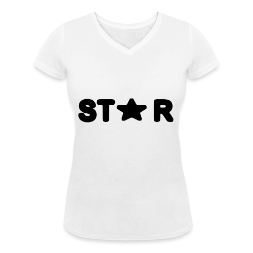 i see a star - Women's Organic V-Neck T-Shirt by Stanley & Stella
