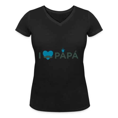 ik hoe van je papa - T-shirt bio col V Stanley & Stella Femme