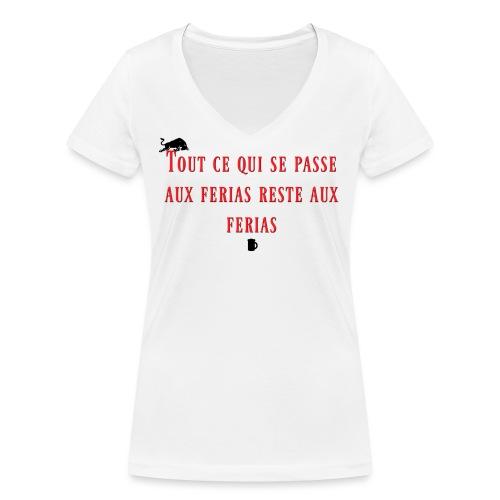 Férias - T-shirt bio col V Stanley & Stella Femme