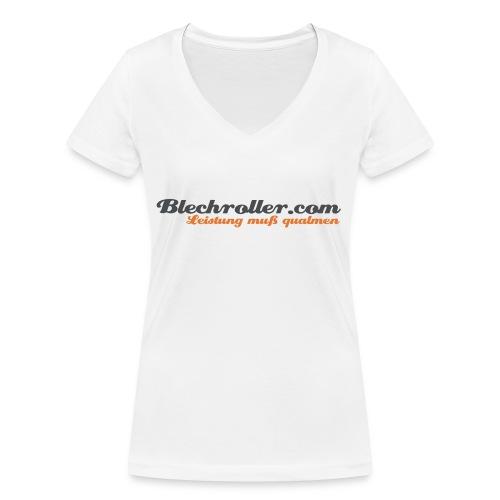 blechroller logo - Frauen Bio-T-Shirt mit V-Ausschnitt von Stanley & Stella