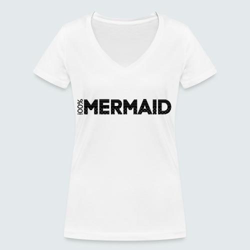 100%Mermaid - Frauen Bio-T-Shirt mit V-Ausschnitt von Stanley & Stella