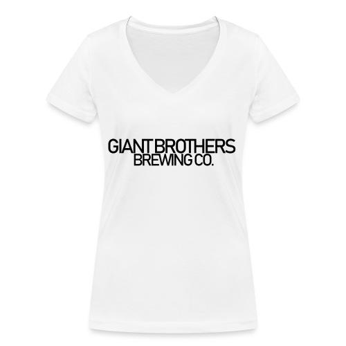 Giant Brothers Brewing co SVART - Ekologisk T-shirt med V-ringning dam från Stanley & Stella