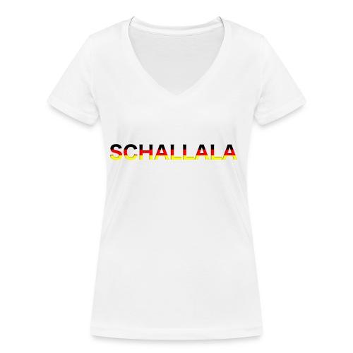 Schallala - Frauen Bio-T-Shirt mit V-Ausschnitt von Stanley & Stella