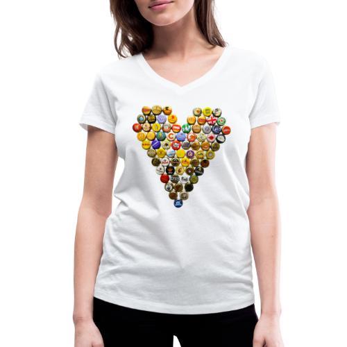 LOVERZ GONNA LOVE bière - T-shirt bio col V Stanley & Stella Femme