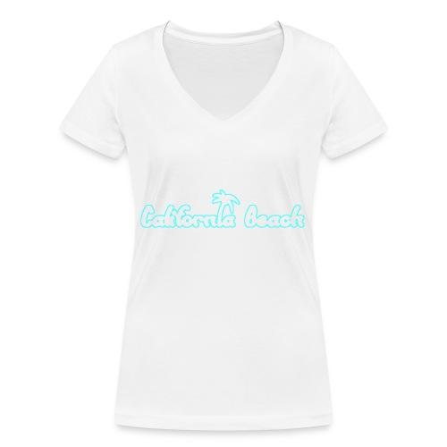 California Beach - Ekologisk T-shirt med V-ringning dam från Stanley & Stella