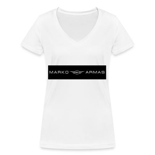 logo - Stanley & Stellan naisten v-aukkoinen luomu-T-paita