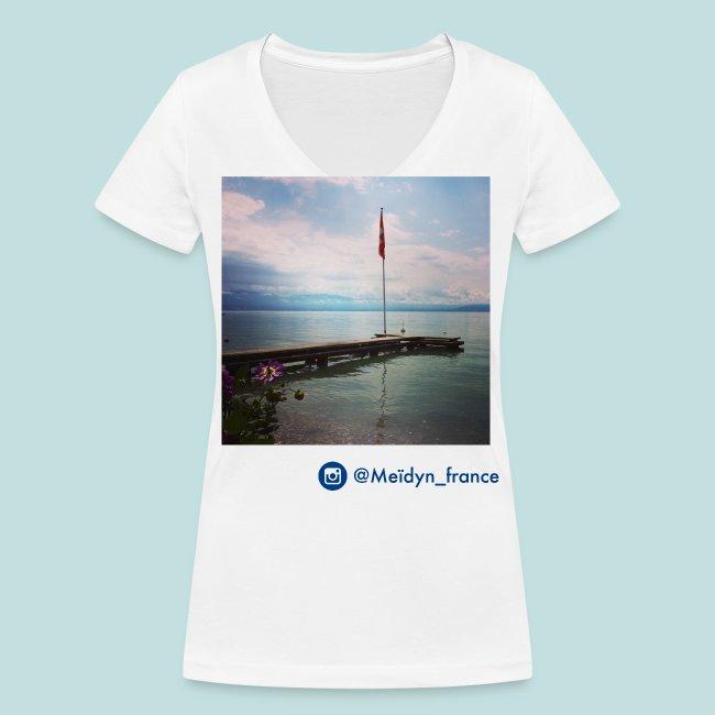 drapeau suisse lac léman
