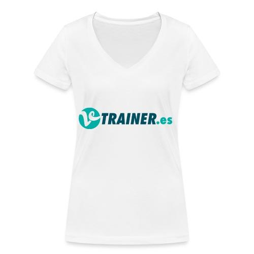 VTRAINER.es - Camiseta ecológica mujer con cuello de pico de Stanley & Stella