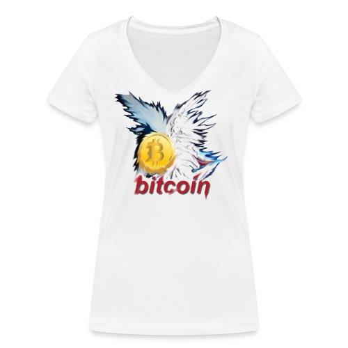 bitcoin t shirt design 8 png - Frauen Bio-T-Shirt mit V-Ausschnitt von Stanley & Stella