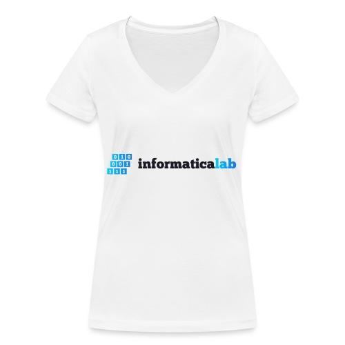 InformaticaLab logo for white background - T-shirt ecologica da donna con scollo a V di Stanley & Stella