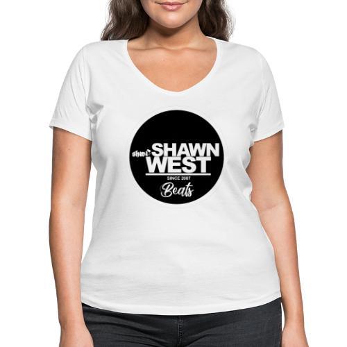 SHAWN WEST BUTTON - Frauen Bio-T-Shirt mit V-Ausschnitt von Stanley & Stella