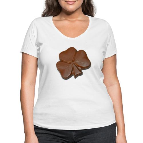 Chocolate Shamrocks - Women's Organic V-Neck T-Shirt by Stanley & Stella