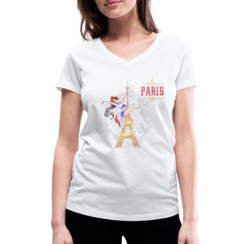 Pole Dance Paris Marianne - T-shirt bio col V Stanley & Stella Femme
