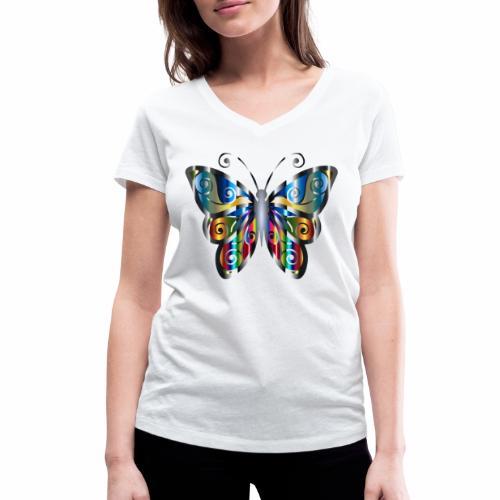 butterfly - Ekologiczna koszulka damska z dekoltem w serek Stanley & Stella