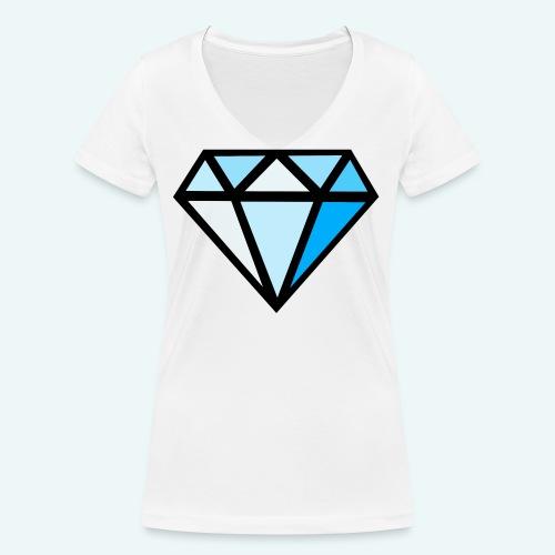FCTimantti logo ilman tekstia - Stanley & Stellan naisten v-aukkoinen luomu-T-paita