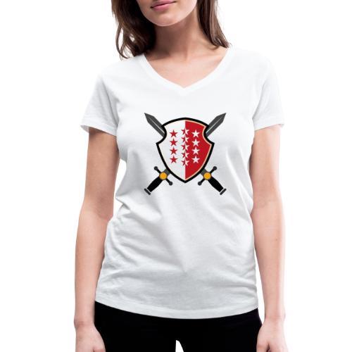 Valais avec épées - Frauen Bio-T-Shirt mit V-Ausschnitt von Stanley & Stella