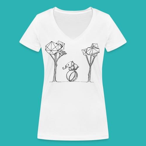Rotolare_o_capitombolare-01-png - T-shirt ecologica da donna con scollo a V di Stanley & Stella
