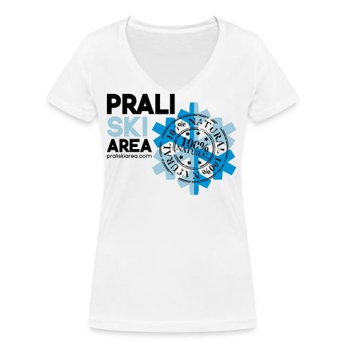 NO ALLA PRIMAVERA - T-shirt ecologica da donna con scollo a V di Stanley & Stella