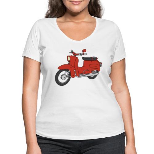 Schwalbe (ibizarot) - Frauen Bio-T-Shirt mit V-Ausschnitt von Stanley & Stella