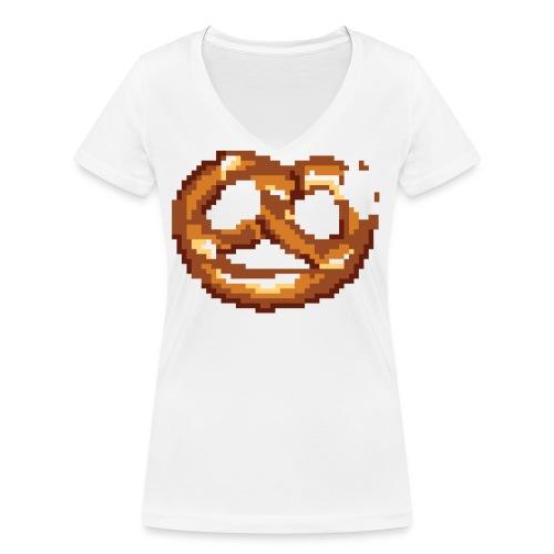 Breze mit Biss - Frauen Bio-T-Shirt mit V-Ausschnitt von Stanley & Stella