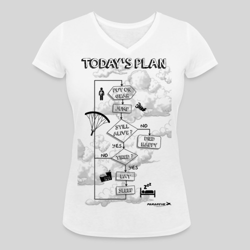 Today s plan - T-shirt bio col V Stanley & Stella Femme