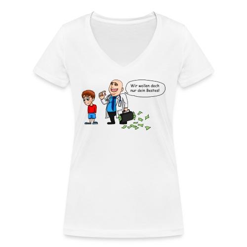 Die Natur hat grundsätzlich Recht - Frauen Bio-T-Shirt mit V-Ausschnitt von Stanley & Stella