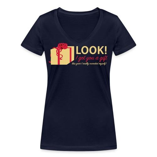 Täydellinen lahja - Stanley & Stellan naisten v-aukkoinen luomu-T-paita