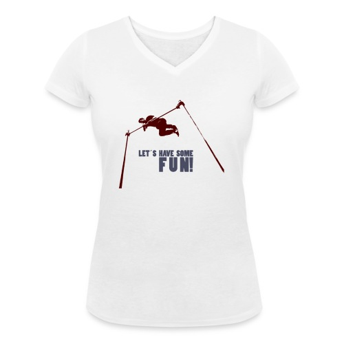 Let s have some FUN - Vrouwen bio T-shirt met V-hals van Stanley & Stella