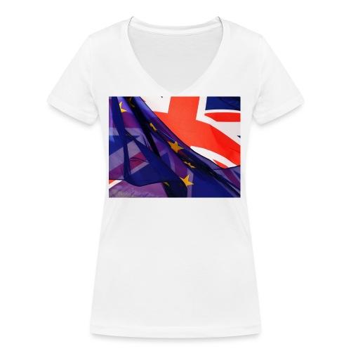 Europa exit - T-shirt ecologica da donna con scollo a V di Stanley & Stella