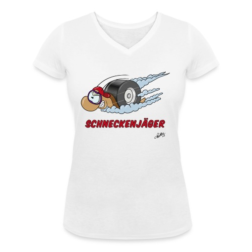 Schneckenjäger - Frauen Bio-T-Shirt mit V-Ausschnitt von Stanley & Stella