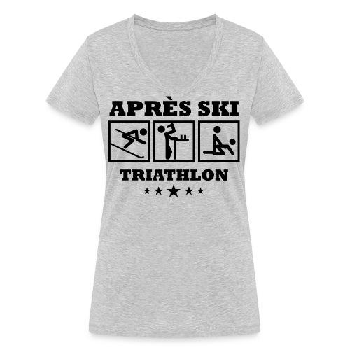 Apres Ski Triathlon | Apreski-Shirts gestalten - Frauen Bio-T-Shirt mit V-Ausschnitt von Stanley & Stella