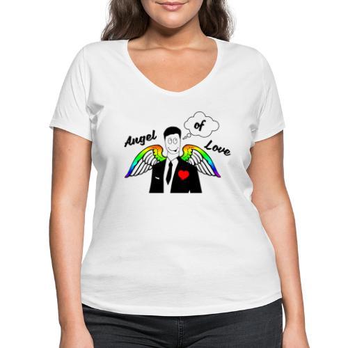 Angel of Love Regenbogen - Frauen Bio-T-Shirt mit V-Ausschnitt von Stanley & Stella