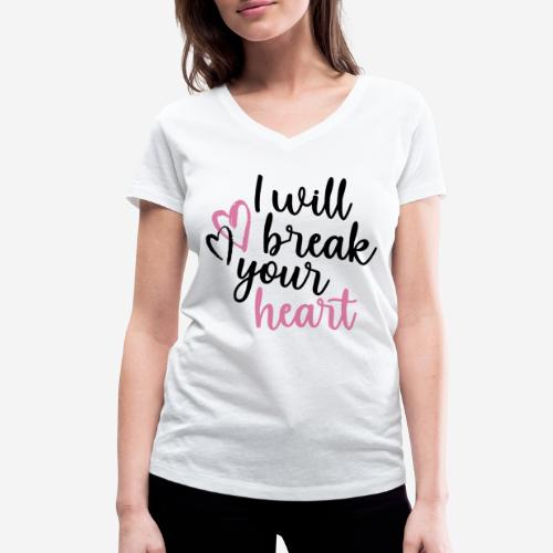 Liebe brich dein Herz - Frauen Bio-T-Shirt mit V-Ausschnitt von Stanley & Stella