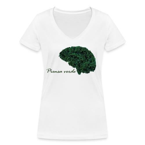 Piensa verde - Camiseta ecológica mujer con cuello de pico de Stanley & Stella