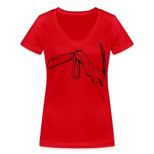 jacknife - T-shirt ecologica da donna con scollo a V di Stanley & Stella