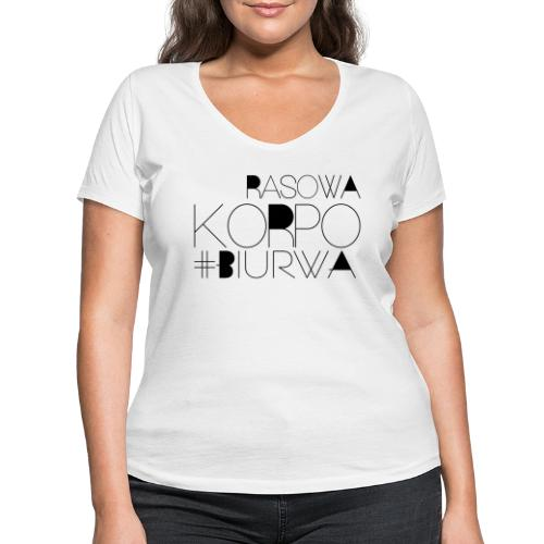 Rasowa Korpo Biurwa - Ekologiczna koszulka damska z dekoltem w serek Stanley & Stella