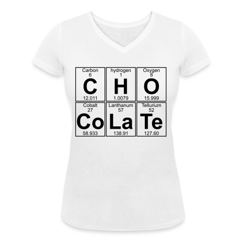C-H-O-Co-La-Te (chocolate) - Full - Women's Organic V-Neck T-Shirt by Stanley & Stella