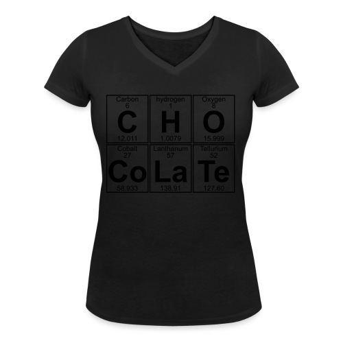 C-H-O-Co-La-Te (chocolate) - Full - Women's Organic V-Neck T-Shirt by Stanley & Stella