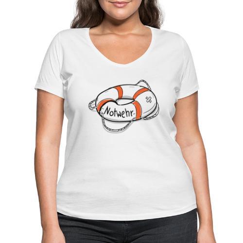 NOTWEHR - Frauen Bio-T-Shirt mit V-Ausschnitt von Stanley & Stella