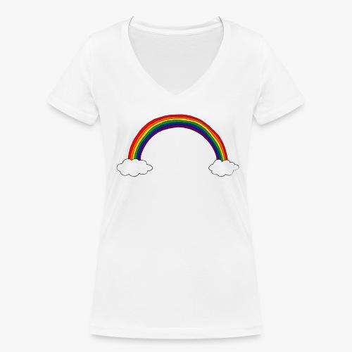 Regenbogen - Frauen Bio-T-Shirt mit V-Ausschnitt von Stanley & Stella