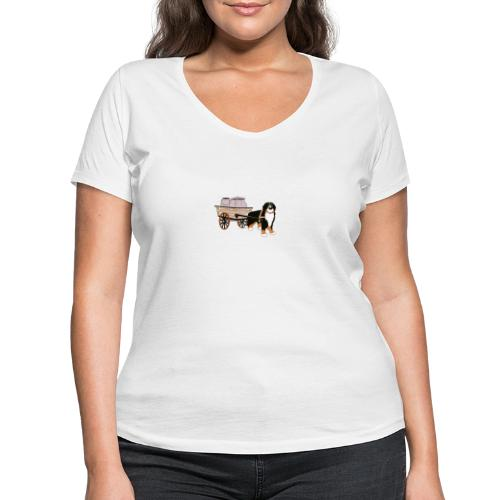 bernerhane drag - Ekologisk T-shirt med V-ringning dam från Stanley & Stella