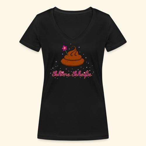 Schöne Scheiße Kacke - Frauen Bio-T-Shirt mit V-Ausschnitt von Stanley & Stella