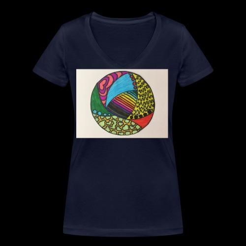 circle corlor - Økologisk Stanley & Stella T-shirt med V-udskæring til damer