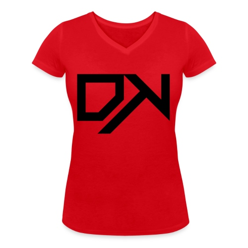 DewKee Logo Cap Black - Women's Organic V-Neck T-Shirt by Stanley & Stella
