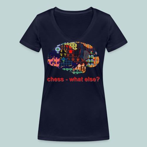 chess_what_else - Frauen Bio-T-Shirt mit V-Ausschnitt von Stanley & Stella